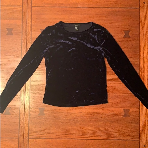 Forever 21 Tops - Long Sleeve Velvet Top